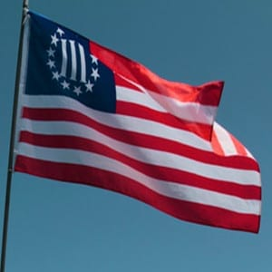 THREE PERCENTER FLAG RED WHITE BLUE