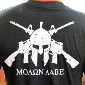 AMERICAN RESISTANCE T SHIRT BLACK MOLON LABE