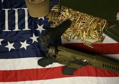 AMERICAN RESISTANCE AR15 556/223 WITH BURNT BRONZE CERAKOTE
