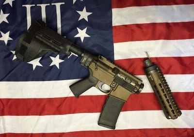 AMERICAN RESISTANCE AR15 PISTOL 556/223 WITH BURNT BRONZE CERAKOTE