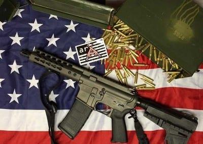 AMERICAN RESISTANCE AR15 PISTOL 556/223 WITH COBALT CERAKOTE