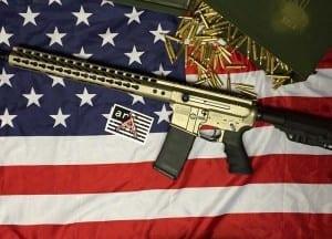 AMERICAN RESISTANCE AR15 RIFLE WITH GUN METAL GREY CERAKOTE
