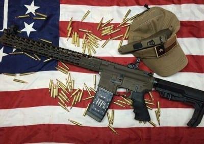 AMERICAN RESISTANCE AR15 RIFLE WITH PATRIOT BROWN CERAKOTE
