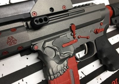 custom built ar15 by american resistance with the jack, x-products side charger, eotech