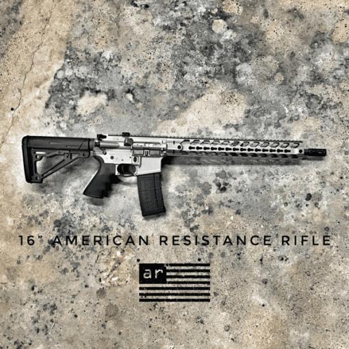 """Gun Metal Grey 16"""" Rifle 556"""