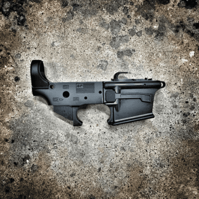 AMERICAN RESISTANCE AR 9MM LOWER RECEIVER WITH LAST ROUND BOLT HOLD OPEN LRBHO ACCEPTS GLOCK MAGAZINES