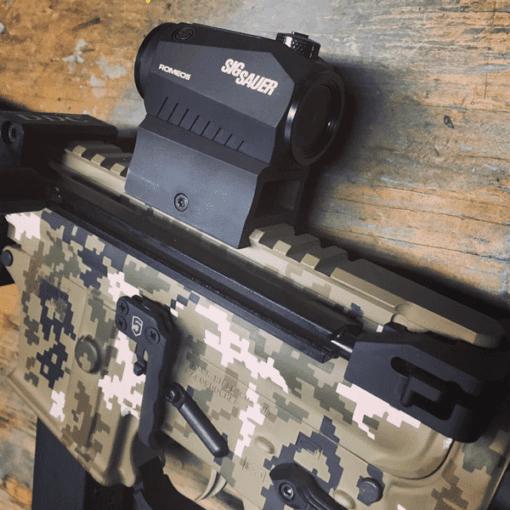 5 Color Digital Cerakote with Pantheon Arms Dolos, Law Tactical, Devil Dog Concepts, Fostech Trigger.