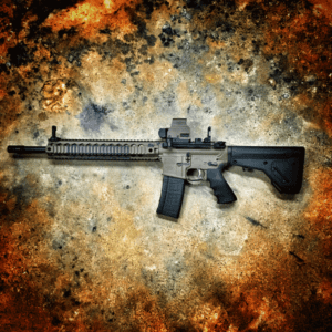 """AMERICAN RESISTANCE 16"""" 556/223 CUSTOM RIFLE WITH CERAKOTE AND EOTECH OPTIC"""