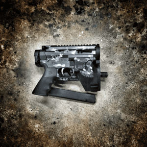 AMERICAN RESISTANCE CUSTOM AR9 WITH THE JACK LOWER AND CUSTOM CERKOTE